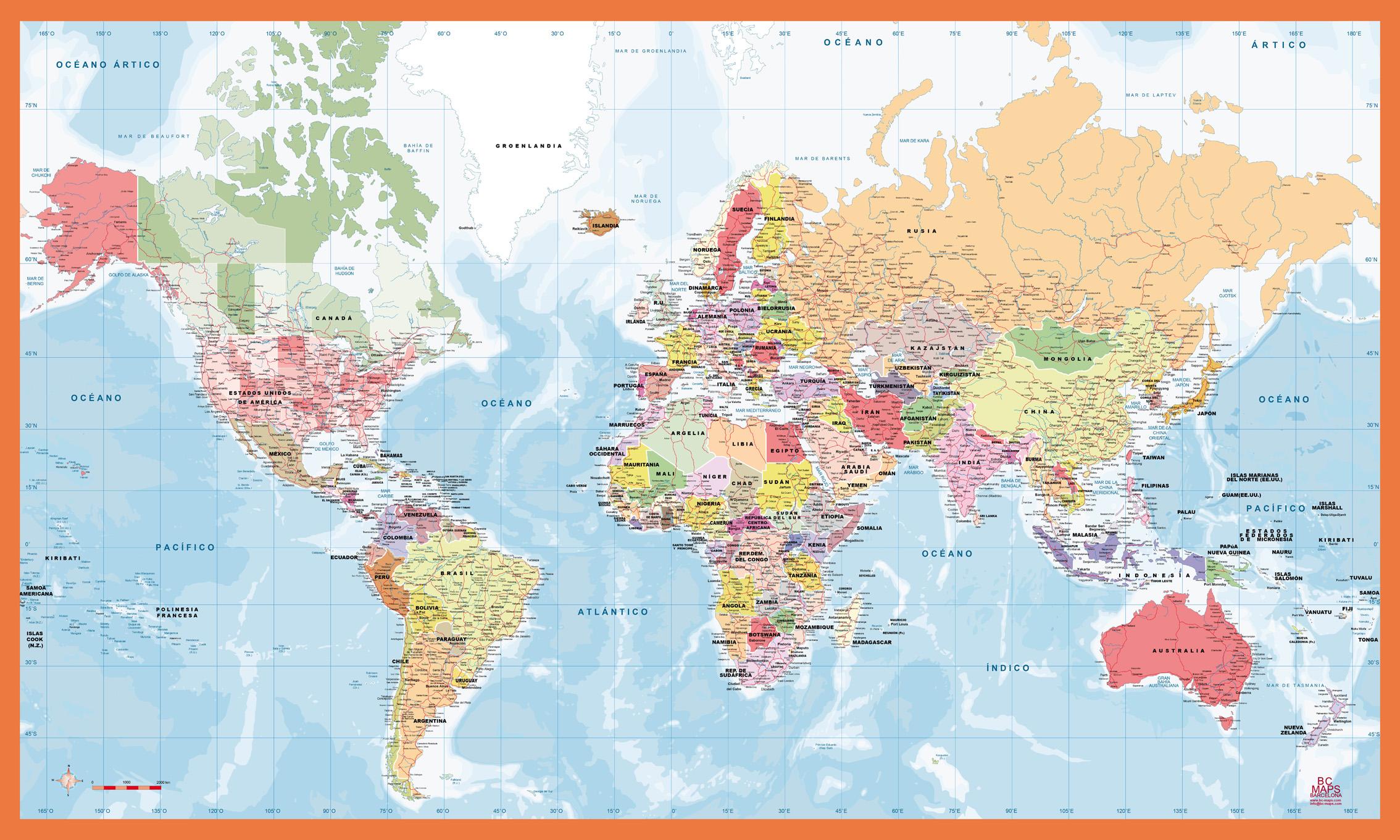 Mapas del mundo mapa mundi share the knownledge for Mapa del mundo decoracion